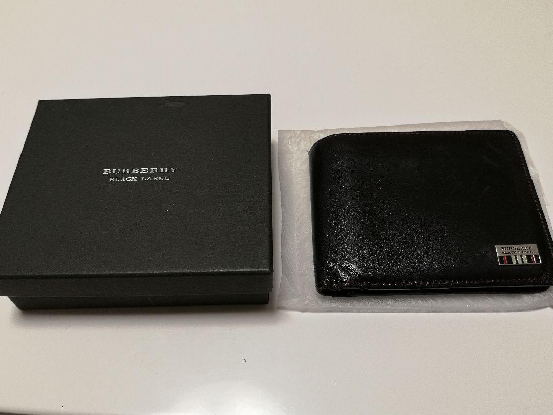 new products c64f5 cf3bb BURBERRY ブラックレーベル 2つ折り財布 メンズ 中古(¥2,250) - メルカリ スマホでかんたん フリマアプリ
