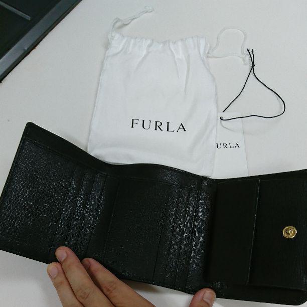 465d9bfbfc8d メルカリ - リサ FURLA フルラ 三つ折り財布 黒 【フルラ】 (¥8,200 ...