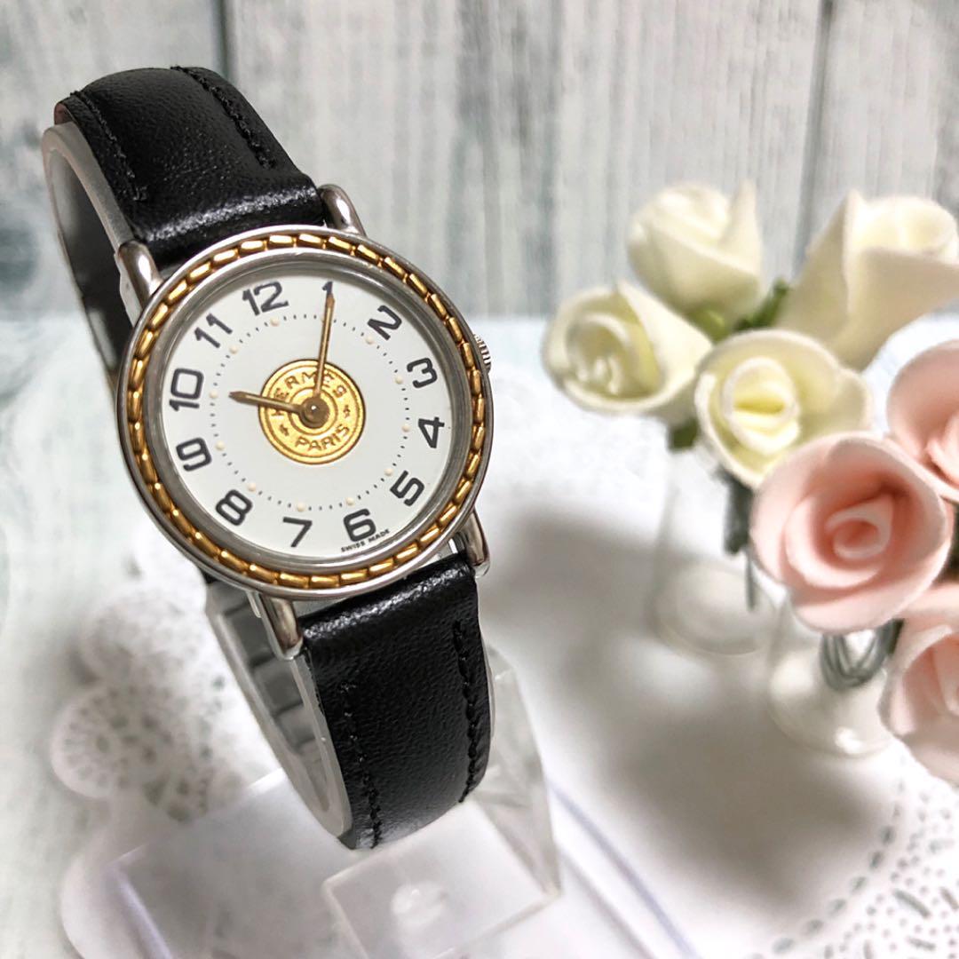 cheaper dd7a9 616c6 【美品】HERMES エルメス セリエ 腕時計 レディース(¥34,000) - メルカリ スマホでかんたん フリマアプリ
