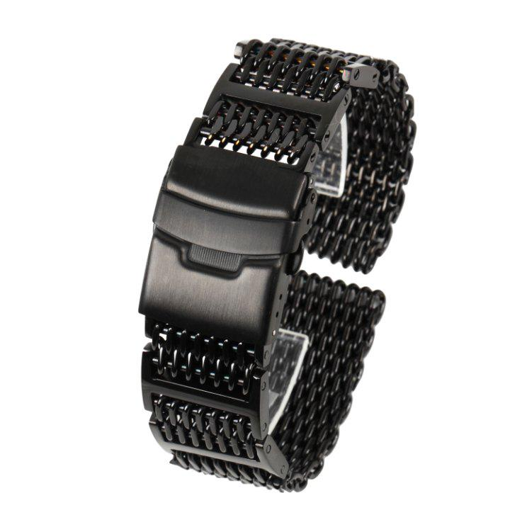 online store 26daa 0f412 シャークメッシュ 時計ベルト 20mm Hリンク 黒ステンレス(¥3,900) - メルカリ スマホでかんたん フリマアプリ