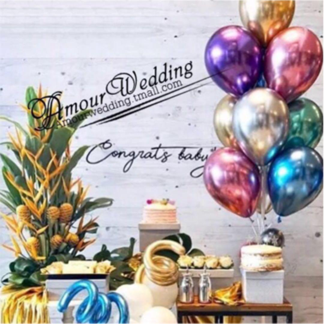 5fa2e812adb63 メルカリ - パーティ バルーン 結婚式 二次会 風船 メタル 飾り  成人式 ...
