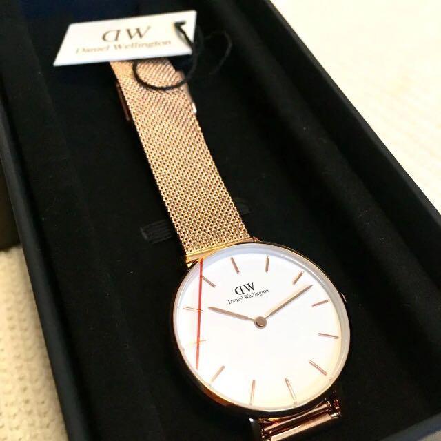 super popular 49851 10853 DW ダニエルウェリントン 腕時計 ローズゴールド 新品 ボックス付き 時計(¥7,977) - メルカリ スマホでかんたん フリマアプリ