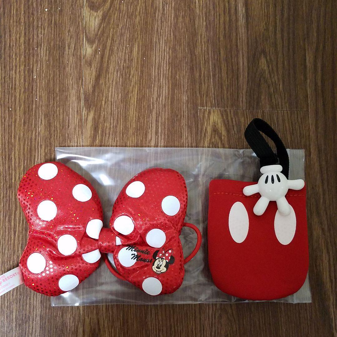 メルカリ Disney ミニーちゃんのイラストつきリボンとミッキーの手の