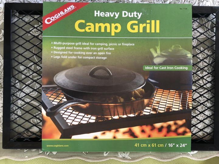 Coghlans Heavy Duty Camp Grill for Camp Fire Cooking