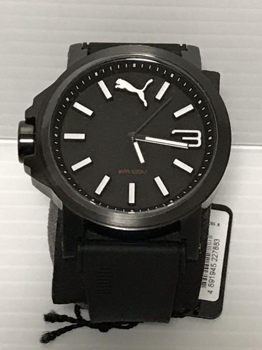 timeless design b1c2f 1e644 新品 未使用 プーマ 腕時計 黒 時計 メンズ スポーツ 防水 送料無料(¥8,600) - メルカリ スマホでかんたん フリマアプリ