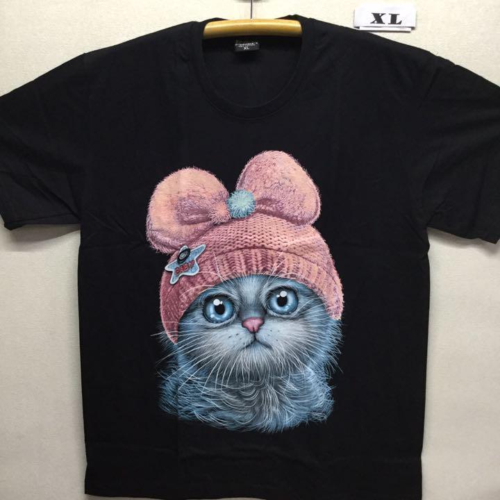 メルカリ 新品 ねこ イラスト tシャツ Xlサイズ 管2832 毛糸の帽子