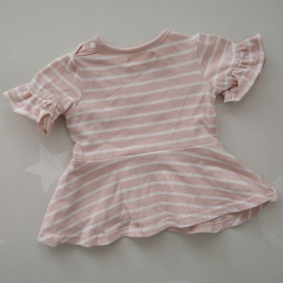 b041283802768 メルカリ - 《美品》ピンクのボーダーと紺のリボンが可愛い♡袖も ...