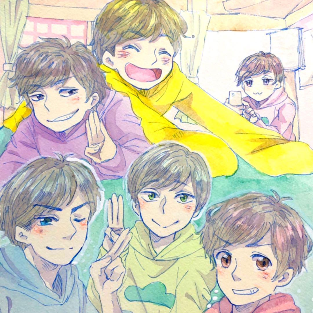 メルカリ 手描きイラスト おそ松さん 自分絵6つ子 アート 写真 999 中古や未使用のフリマ