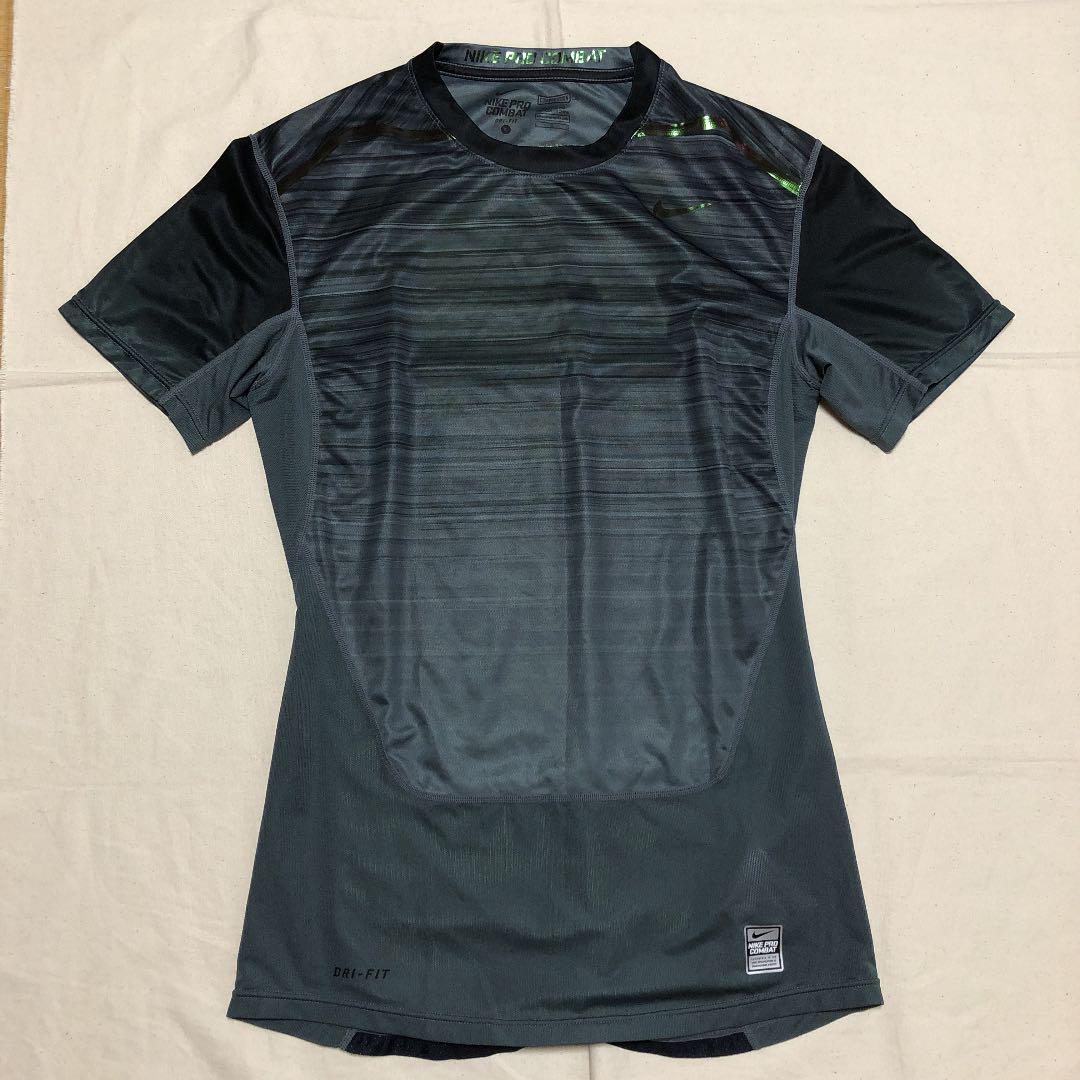 715771c1b84 メルカリ - ドイ様 NIKE PRO COMBAT メンズ半袖Tシャツ グレー インナー ...