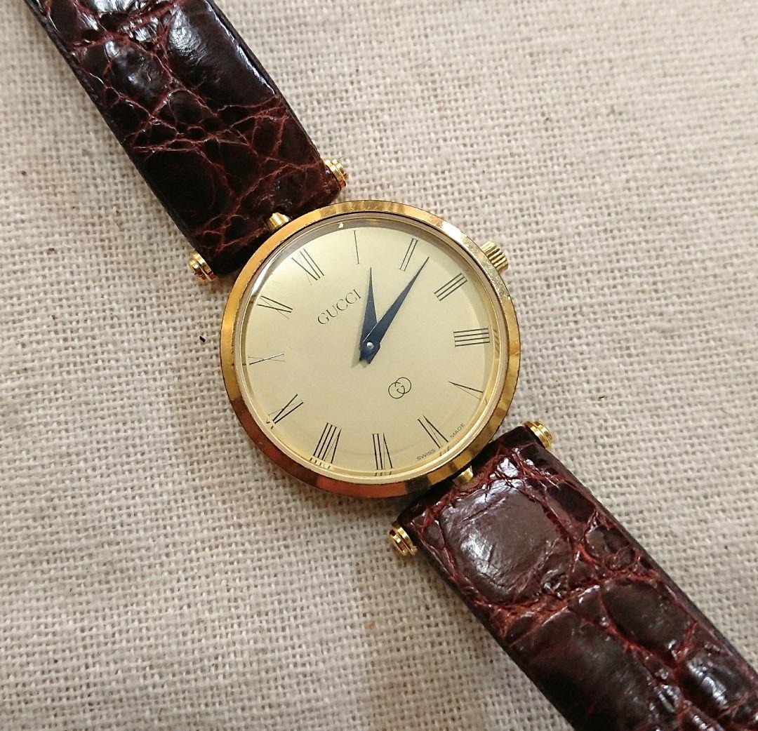 d626ae9ecf74 メルカリ - GUCCI オールドグッチ 腕時計 メンズ ローマ数字 ...