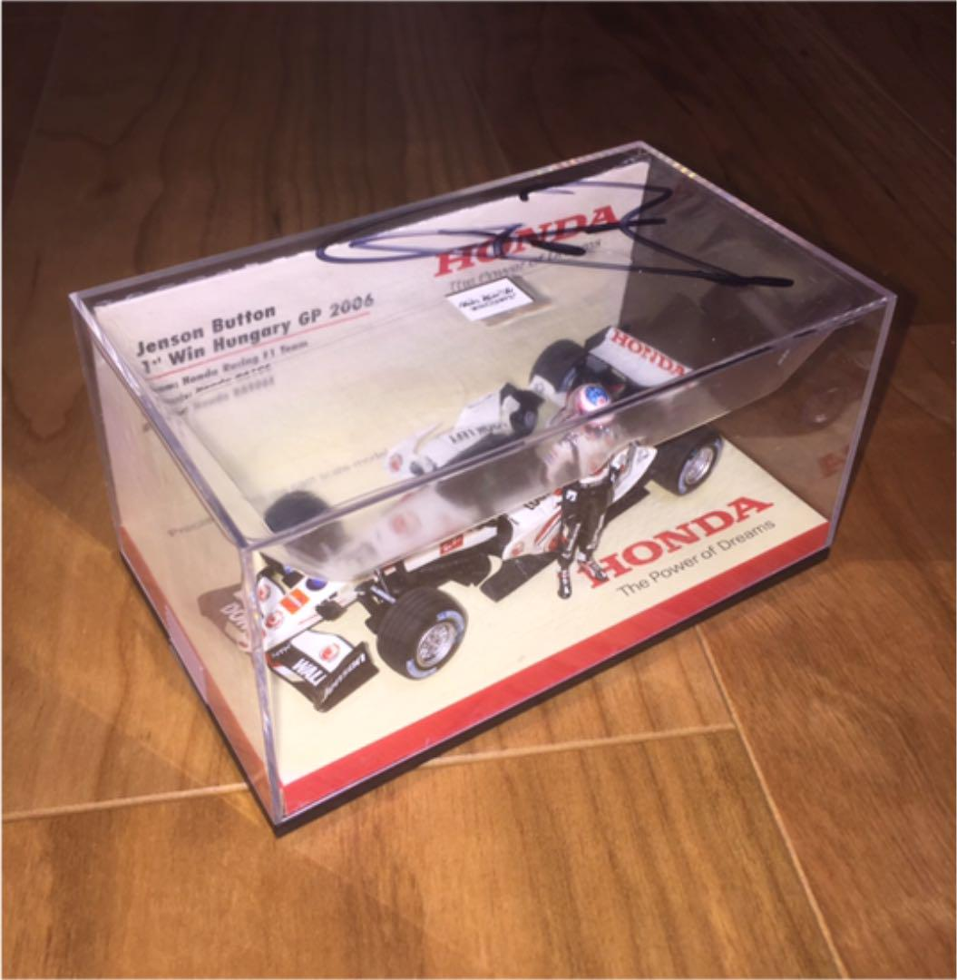 Mini-Champs F1 European Honda Bespoke Ra106 victoire commémorative baton signé