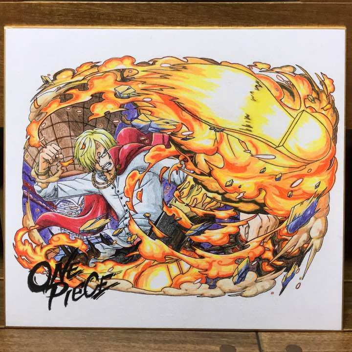 メルカリ One Piece イラスト サンジ ジェルマ王国 Wci編 色紙 趣味