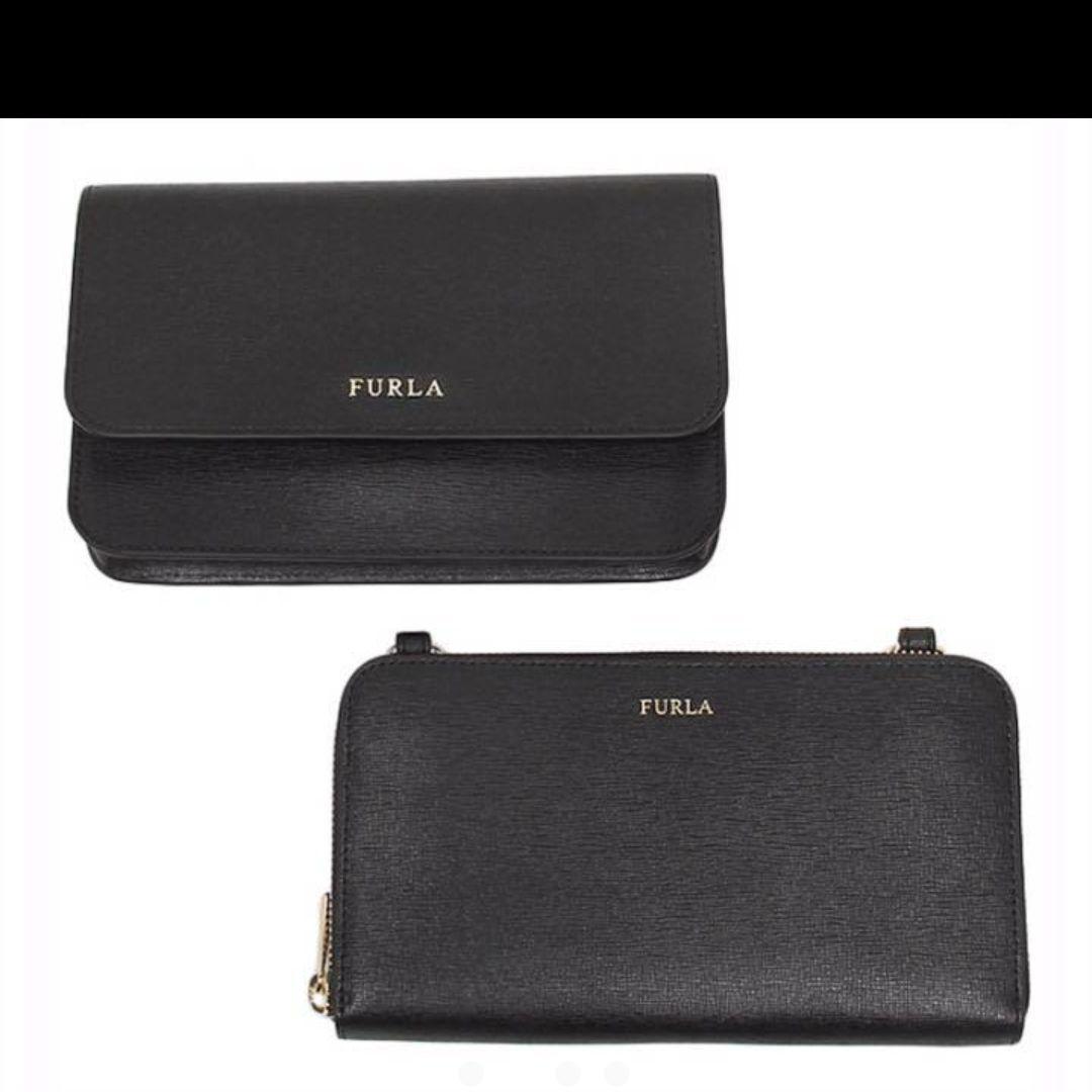 super popular c035e 63afe [新品] FURLA フルラ お財布ショルダー 長財布 ブラック バック(¥27,699) - メルカリ スマホでかんたん フリマアプリ