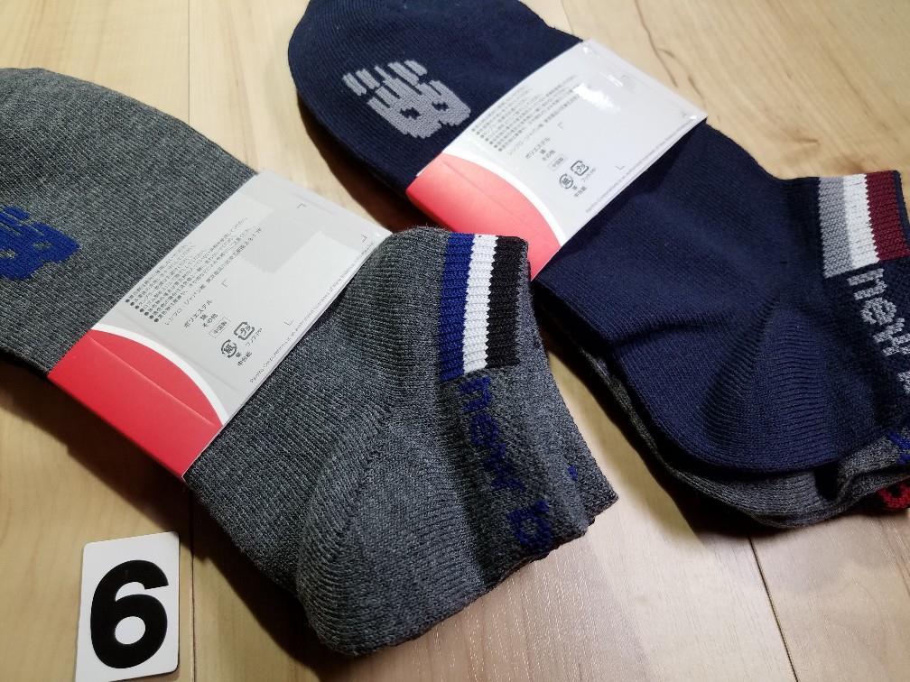 d96976e19e19a メルカリ - (6)3色6足組 メンズ ニューバランス スニーカーソックス 綿 ...