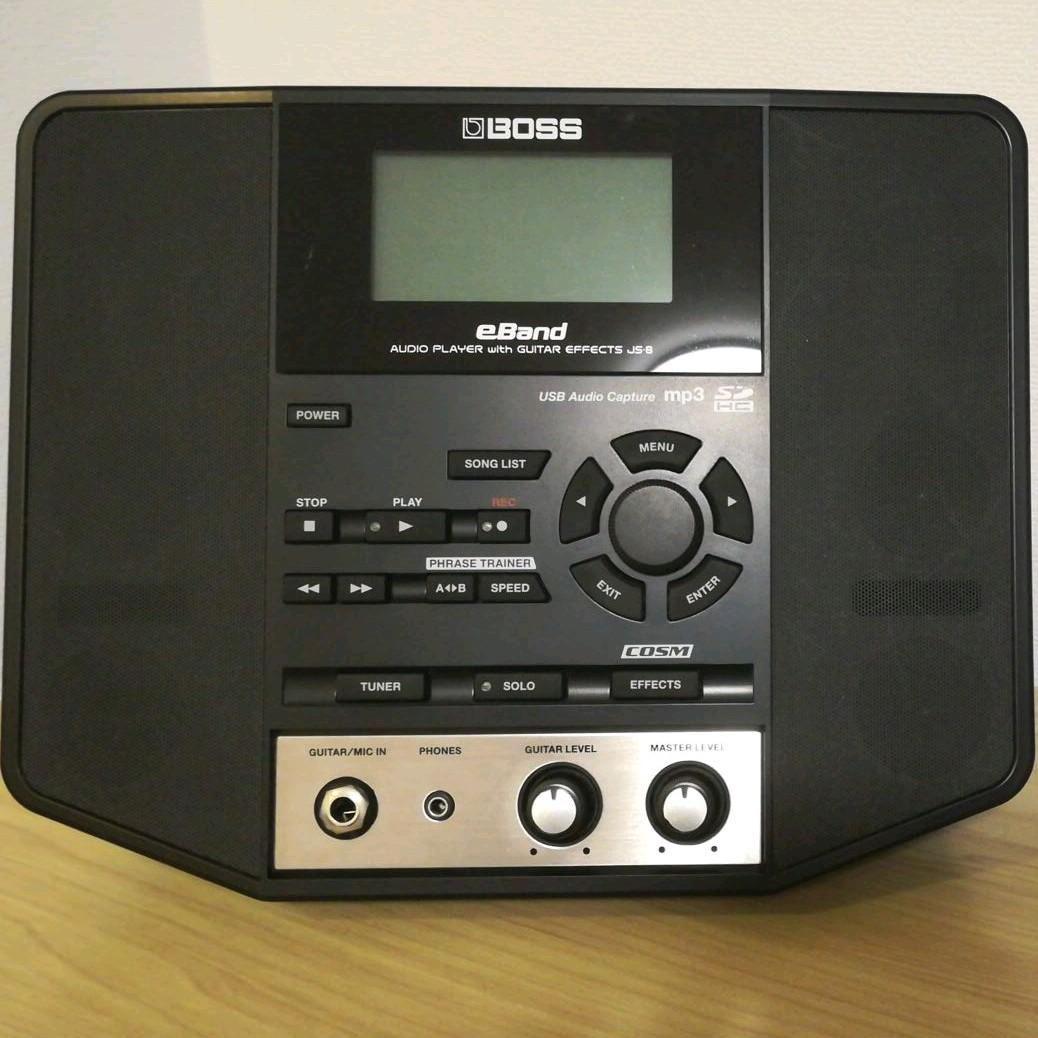 Boss eBand JS-8 Audio player for guitarist W//SD card adapter Rare JAPAN