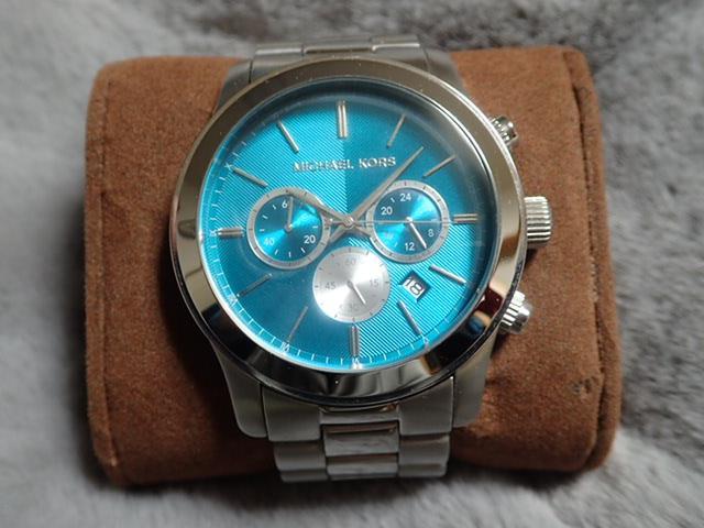 d11616a3db8b メルカリ - MICHAEL KORS マイケルコース 腕時計 ブルーグリーン【美品 ...