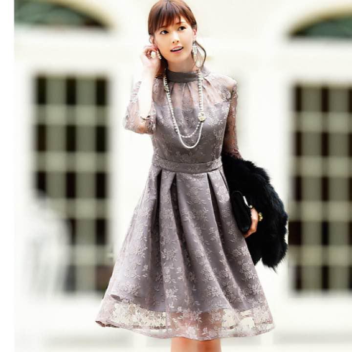 112c4114d79ae メルカリ - ruirue boutique クチュールレースリボンワンピースドレス ...