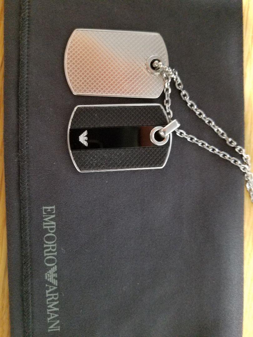 new product d6887 0a8a8 EMPORIO ARMANIネックレス 人気のドッグタグ 本日限りの値段(¥7,000) - メルカリ スマホでかんたん フリマアプリ