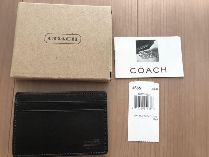 cd220a874df5 メルカリ - 【新品】COACH メンズ カードケース マネークリップ 【コーチ ...