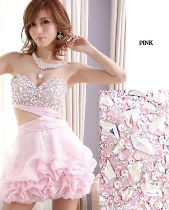 51c75815ac512 メルカリ - 限定 ♥AngelR♥ビジュー ミニドレス キャバ ドレス ...