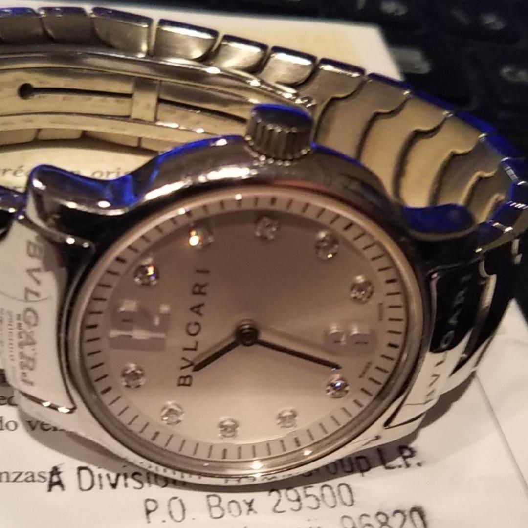 best loved 480a2 b20f0 お値打ち品 美品 ブルガリ腕時計10Pダイヤモンド ソロテンポ(¥75,000) - メルカリ スマホでかんたん フリマアプリ