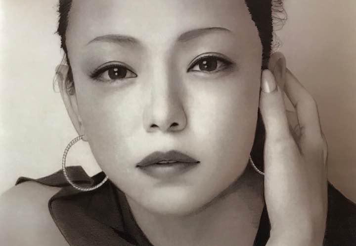 メルカリ 安室奈美恵 鉛筆画 イラスト ミュージシャン 4800