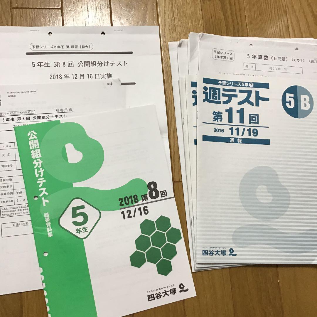 組み テスト 分け 結果 四谷 大塚
