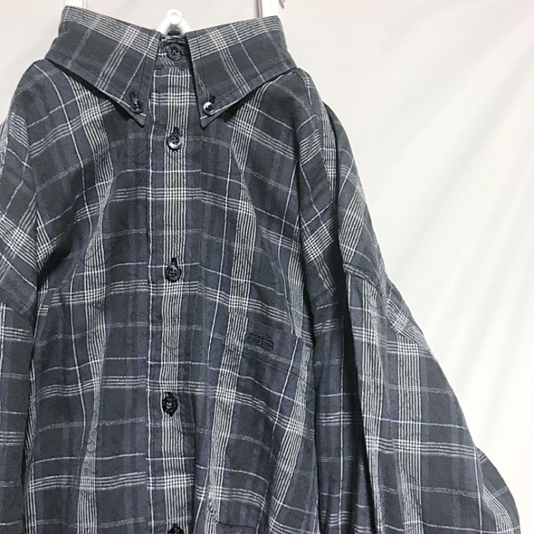 detailed look e0c3f 3a658 BALENCIAGA BDシャツ チェック ペイズリー アート柄 デザインシャツ(¥10,600) - メルカリ スマホでかんたん フリマアプリ