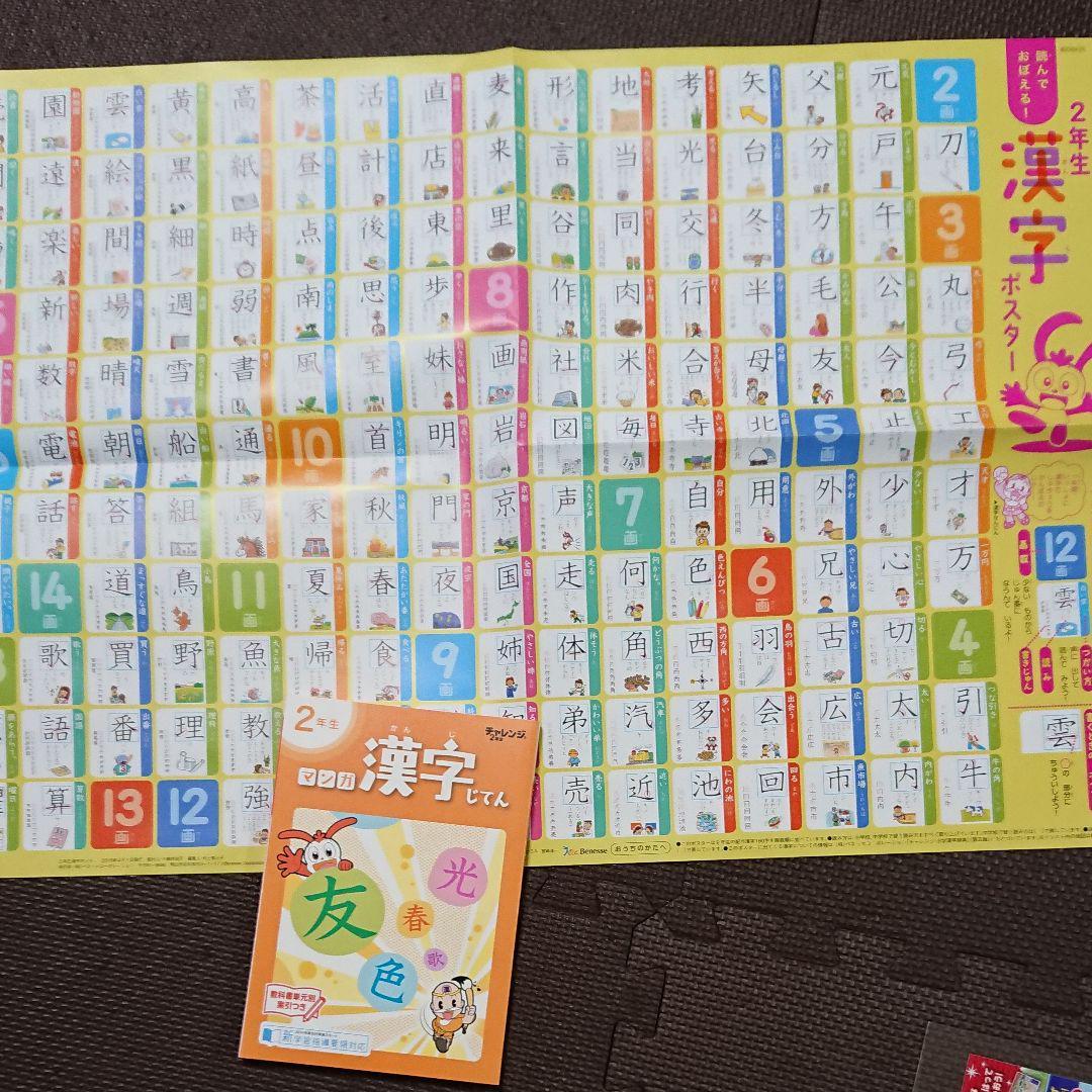 小学2年生漢字ポスター漢字辞典セット500 メルカリ スマホでかんたん フリマアプリ