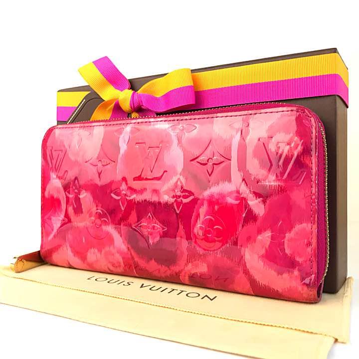 【良品】ルイヴィトン ジッピーウォレット 花柄 モノグラム ピンク 人気