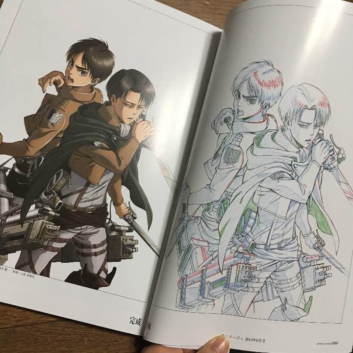 メルカリ 進撃の巨人イラスト集下巻 コミックアニメ 1000