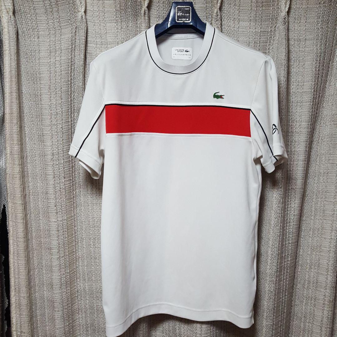 c3358b7bb8955 メルカリ - ラコステ メンズテニスTシャツ ジョコビッチモデル ホワイト ...