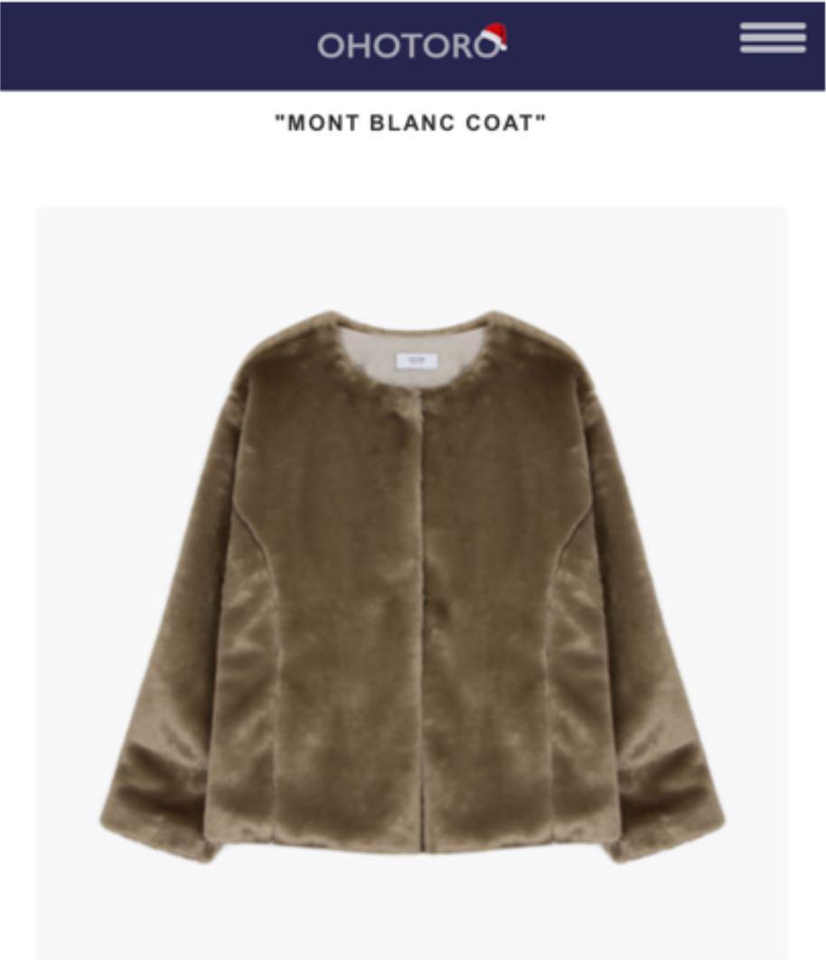 0fa08172b OHOTORO mont blanc coat beige