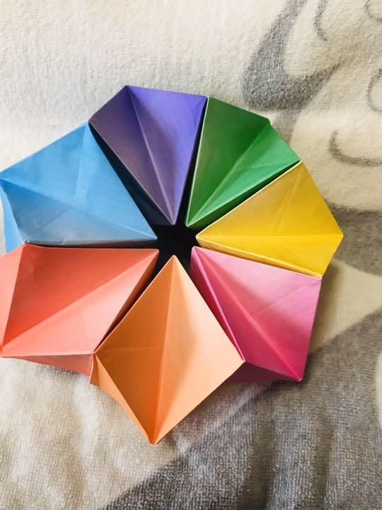折り紙 万華鏡 折り 方