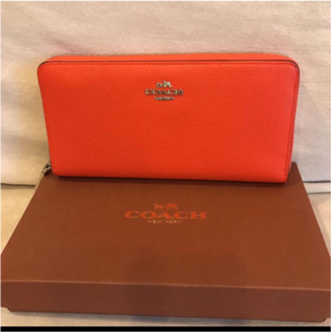 new product 930a0 c0a66 COACH コーチ 長財布 オレンジ 人気(¥19,999) - メルカリ スマホでかんたん フリマアプリ