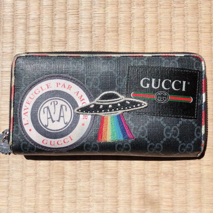 wholesale dealer 282d8 7e936 GUCCI 財布 メンズ ナイトクーリエGGスプリーム(¥37,000) - メルカリ スマホでかんたん フリマアプリ