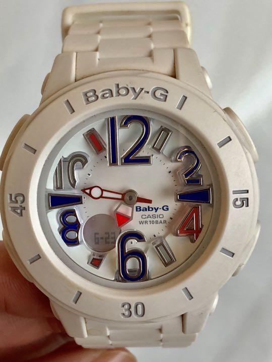 sports shoes 74d86 746e2 CASIO Baby-G ベビージー 腕時計 白 トリコロールカラー(¥5,000) - メルカリ スマホでかんたん フリマアプリ