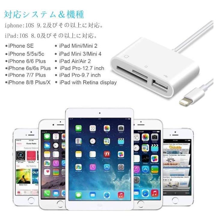 USB Flash Drive SD TF Card Reader For iPhone X 8 7 6s 6 Plus 5 s iPad Air Mini