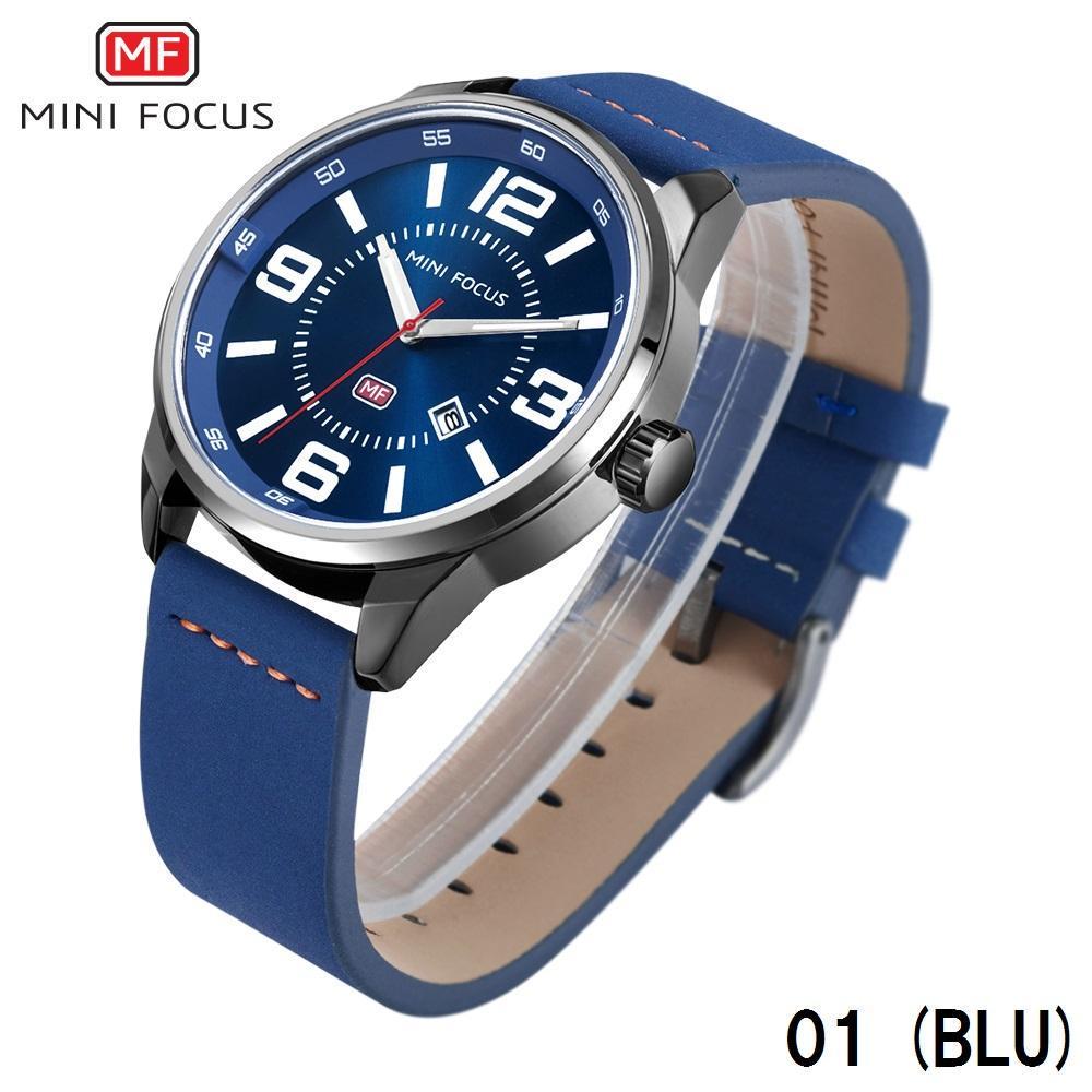 3c756066c9 メルカリ - MINI FOCUS メンズ 腕時計 MF0051G 青 日本製ムーブメント ...
