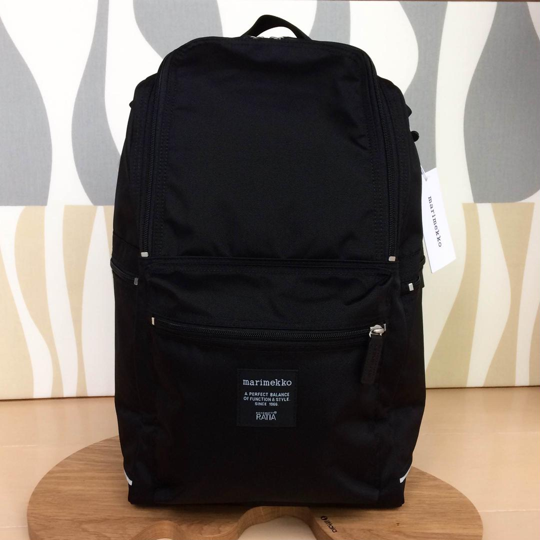 7d7038f2cb00 メルカリ - 新品 marimekko BUDDY マリメッコ バディ リュック ブラック ...
