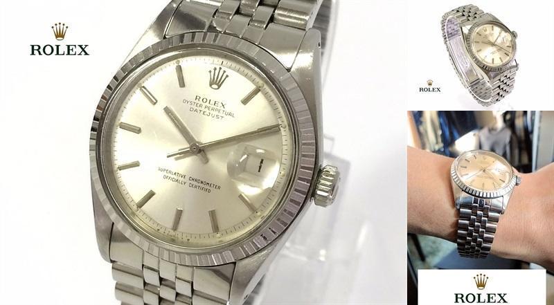 sale retailer bc770 23a57 正規 本物 ROLEX ロレックス デイトジャスト メンズ シルバー 時計 稼動(¥280,000) - メルカリ スマホでかんたん フリマアプリ