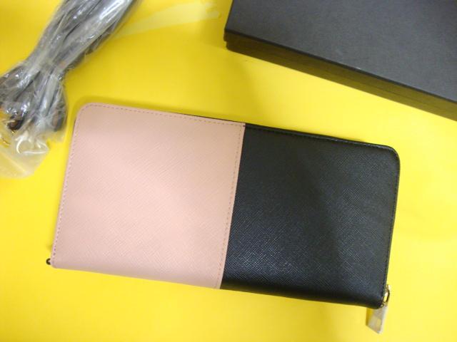 uk availability b47e9 3354c LADiA 長財布バイカラー 人気 ブランド ショルダ 斜めがけ 2way 軽い(¥5,500) - メルカリ スマホでかんたん フリマアプリ