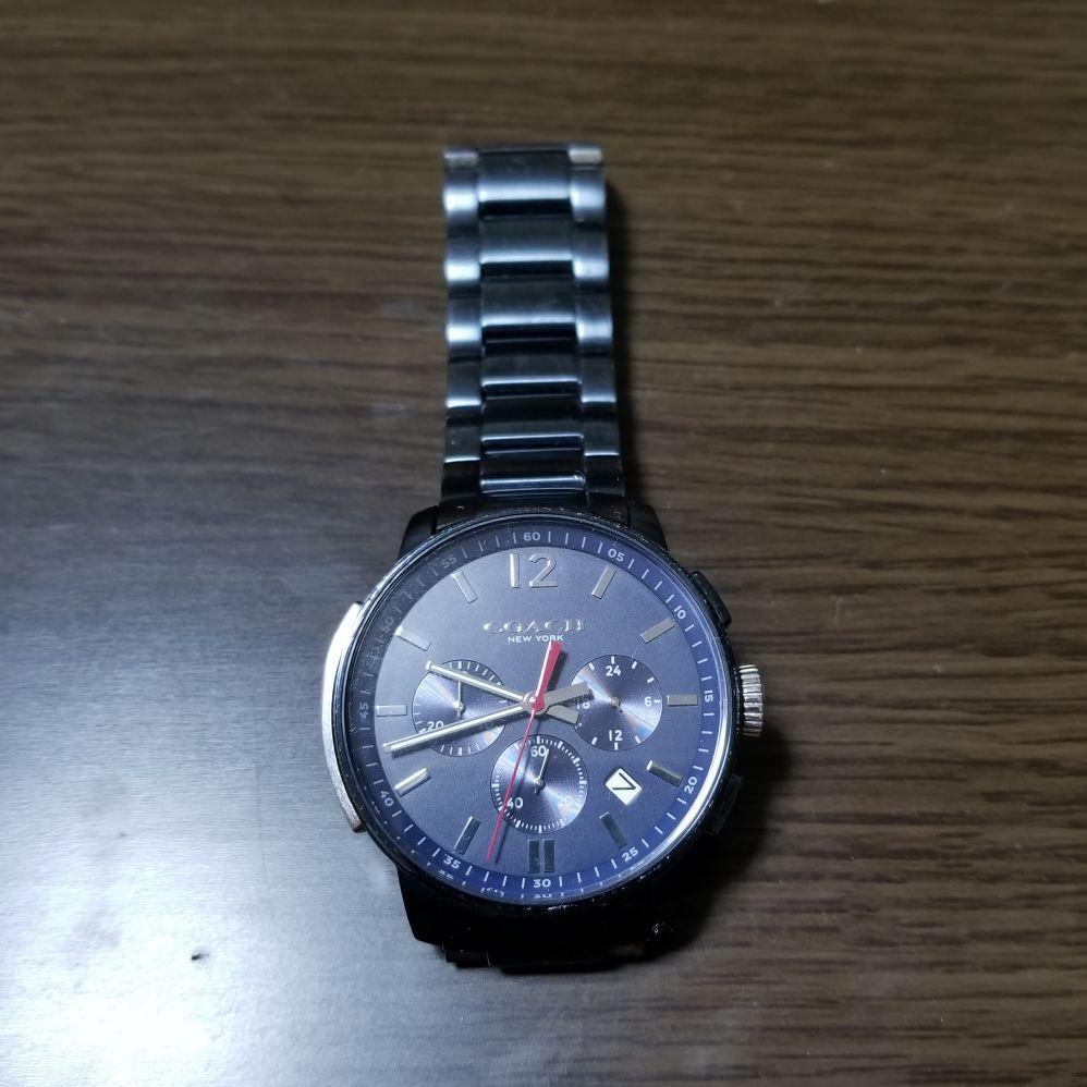 los angeles 3f7c0 bca85 coach 腕時計 メンズ ネイビー クロノグラフ ブリーカー 紺 コーチ(¥15,000) - メルカリ スマホでかんたん フリマアプリ