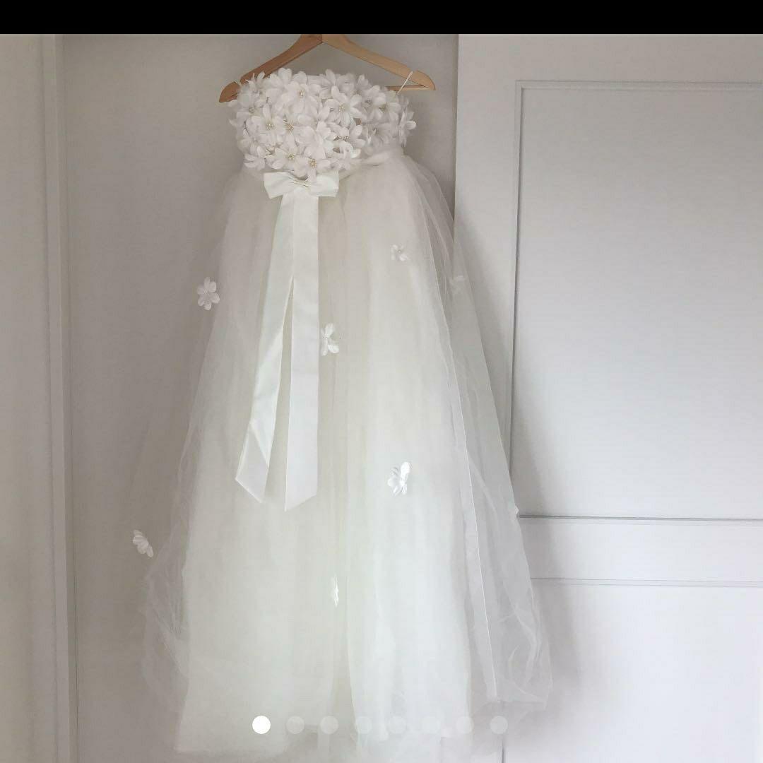 メルカリ ウェディングドレス マタニティドレス 4 500 中古や未