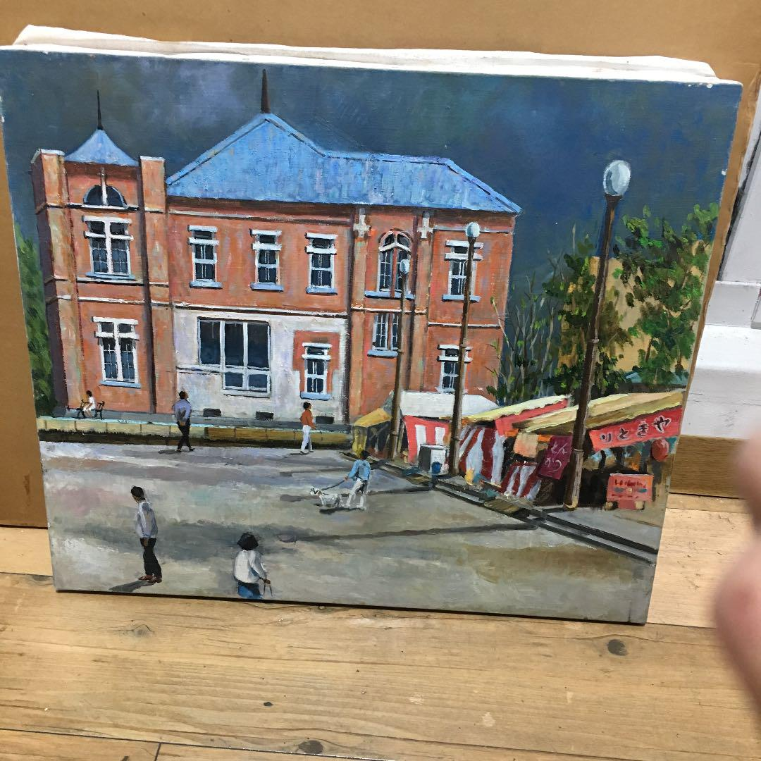 油絵 絵画 飾り物 出店 建物(¥4,300) , メルカリ スマホでかんたん フリマアプリ