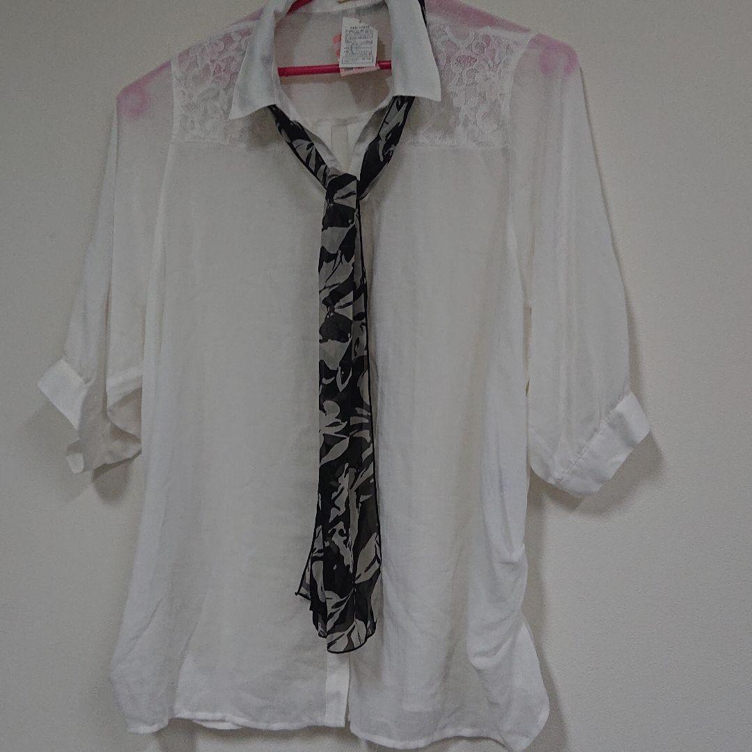 シアー シャツ 半袖