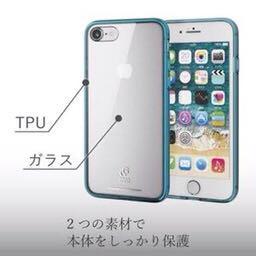 メルカリ Iphonese ガラスケース ブルー Iphone7 Iphone8 Iphone用ケース 700 中古や未使用のフリマ
