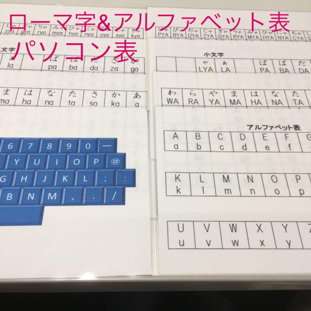 ローマ字アルファベット表パソコン入力表580 メルカリ スマホでかんたん フリマアプリ