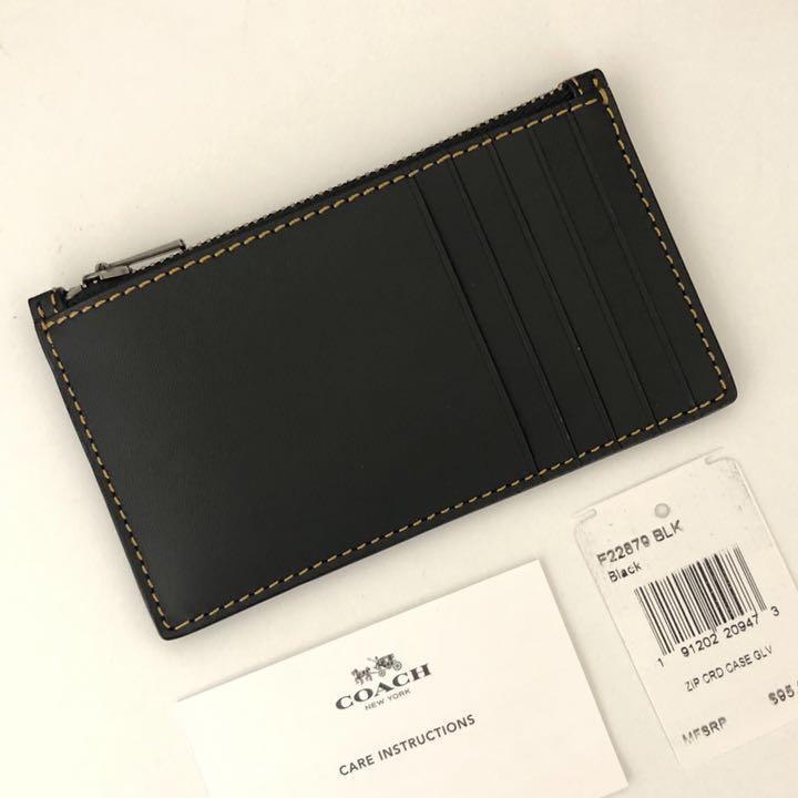 4285c35b6c9105 メルカリ - COACH コーチ メンズ コインケース カードケース ブラック 黒 ...