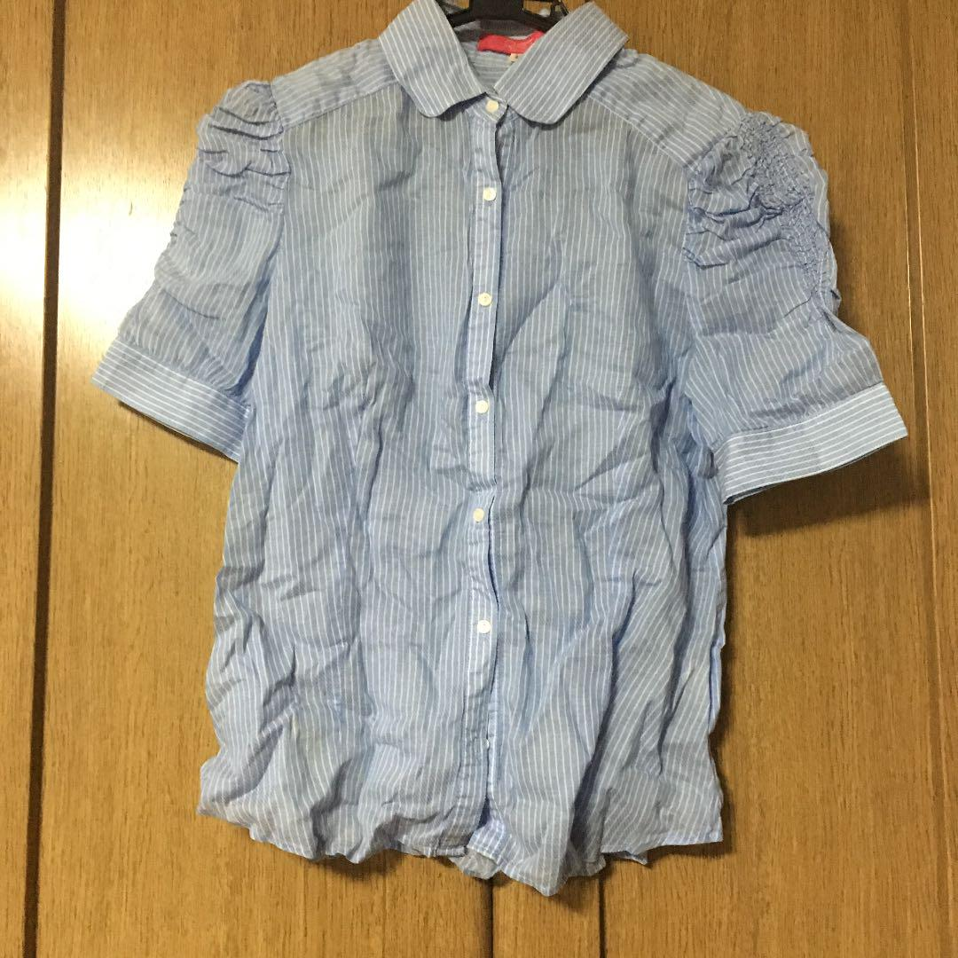 ba1904ced11d7 メルカリ - ナラカミーチェ シャツ ブラウス 半袖 ストライプ サイズ2 ...